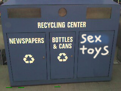 sex toy recycle bin